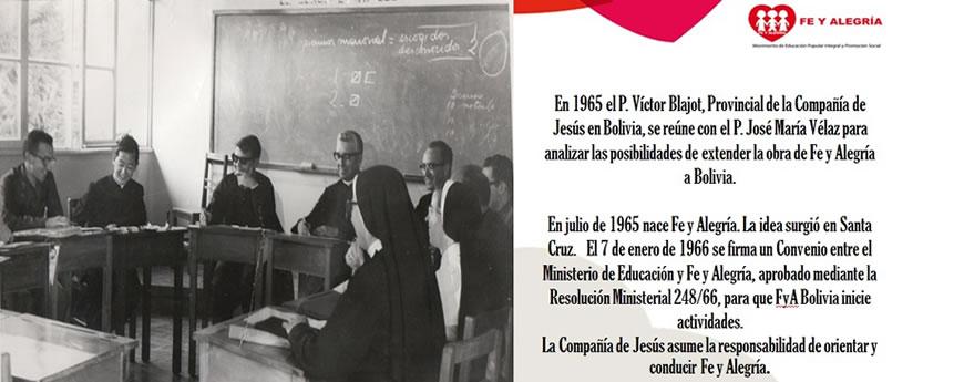 Inicios de Fe y Alegría Bolivia en 1966